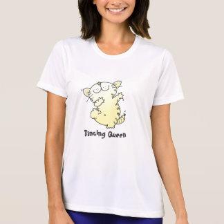 Camiseta linda linda del baile del gato LOL de la