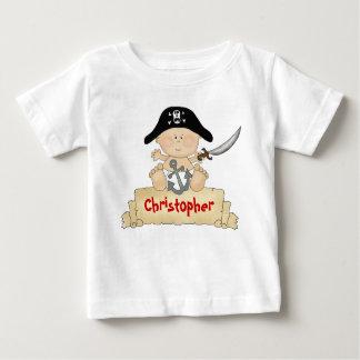 Camiseta linda personalizada del pirata del bebé playeras