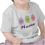 Camiseta linda personalizada del trío de Pascua