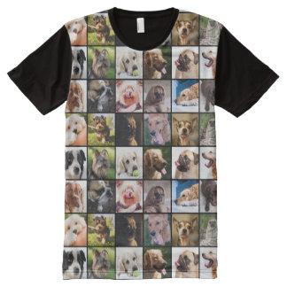 Camiseta linda y divertida del collage de la foto