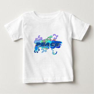 camiseta líquida del bebé de la paz