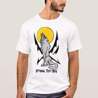 Camiseta llameante del lobo del grito del estilo