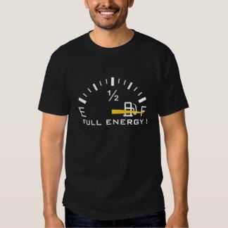 Camiseta llena del gas combustible de la energía playera