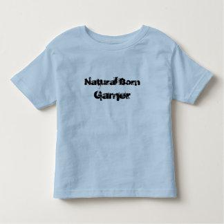 camiseta llevada natural de los niños del playeras