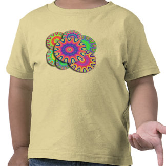 Camiseta loca de la mandala de la margarita del
