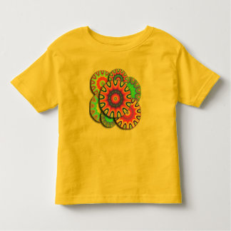 Camiseta loca de la mandala de la margarita del playeras