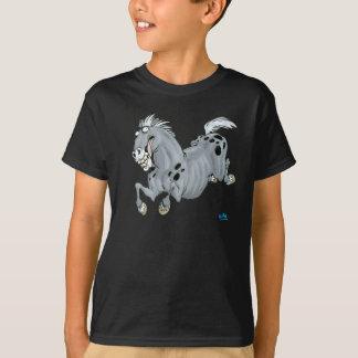 Camiseta loca de los niños del caballo del dibujo remeras
