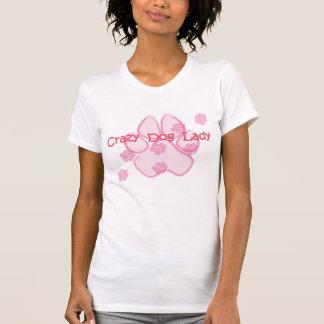 Camiseta loca de señora Pink del perro Playera