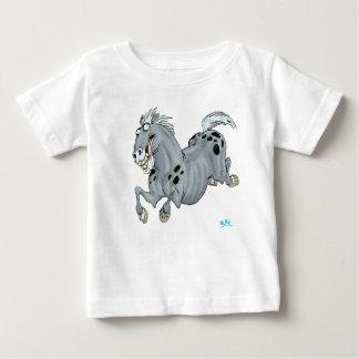 Camiseta loca del bebé del caballo del dibujo remera