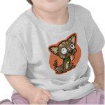 Camiseta loca del bebé del perro