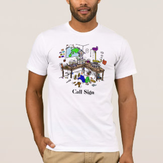 Camiseta loca del equipo de radio-aficionado de la