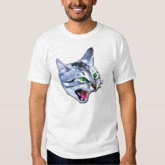 Camiseta loca del gato playera