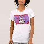 camiseta loca del registro de las señoras del cone