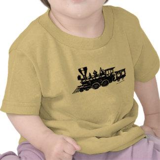 Camiseta locomotora del bebé del motor del steame