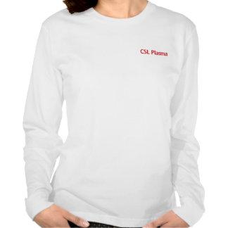 Camiseta Longsleeved blanca del plasma de CSL para