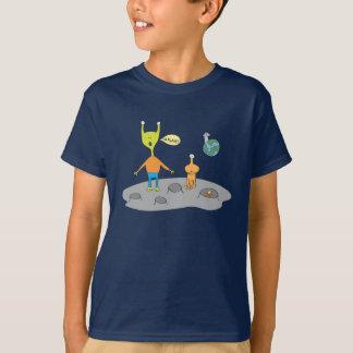 Camiseta lunar extranjera del paisaje playeras