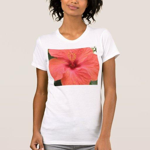 Camiseta macra de las señoras de la flor playera