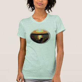 camiseta mágica de las señoras de la luna del arte poleras