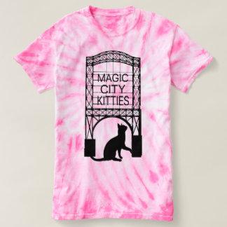 Camiseta mágica de los gatitos de la ciudad camisas