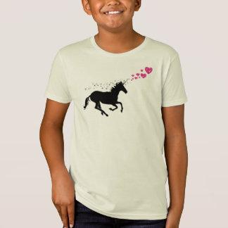 camiseta mágica del amor del unicornio