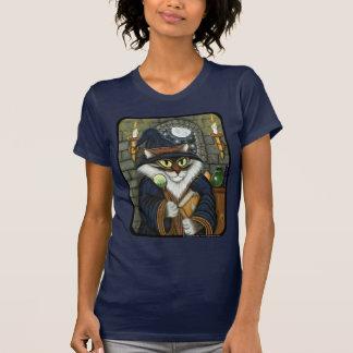 Camiseta mágica del hechicero del gato del mago polera