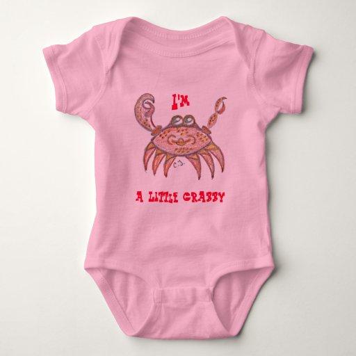 Camiseta malhumorada mameluco de bebé