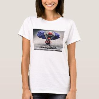 Camiseta malvada atómica de la bomba del payaso