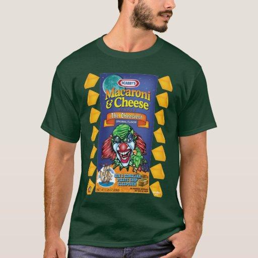 Camiseta malvada del payaso - macarrones y queso