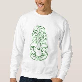 Camiseta maorí del bosquejo de Hei-Tiki Sudaderas Encapuchadas