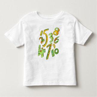 Camiseta maravillosa de un a diez números playera de niño