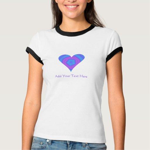 Camiseta maravillosa personalizada del corazón playera