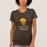 Camiseta marina del polluelo de la esposa
