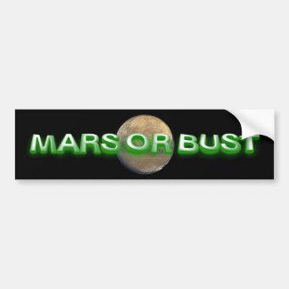 CAMISETA Marte o busto Pegatina De Parachoque