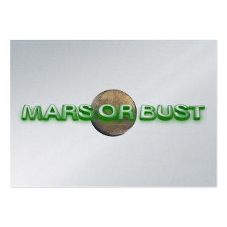 CAMISETA Marte o busto Tarjetas De Visita Grandes