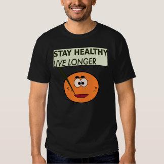 Camiseta más larga viva sana de la estancia remera