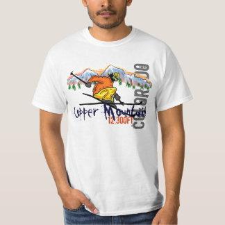 Camiseta más skiier del valor de la elevación de