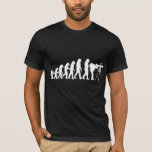 Camiseta masculina de la evolución del fotógrafo