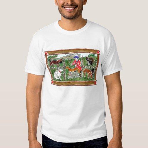 Camiseta medieval de los perros poleras