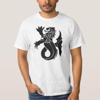 Camiseta medieval del valor del león marino de la remeras