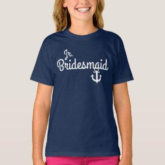 Camiseta menor de la dama de honor del boda