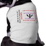 Camiseta mental del perro del perro del servicio m camisas de mascota