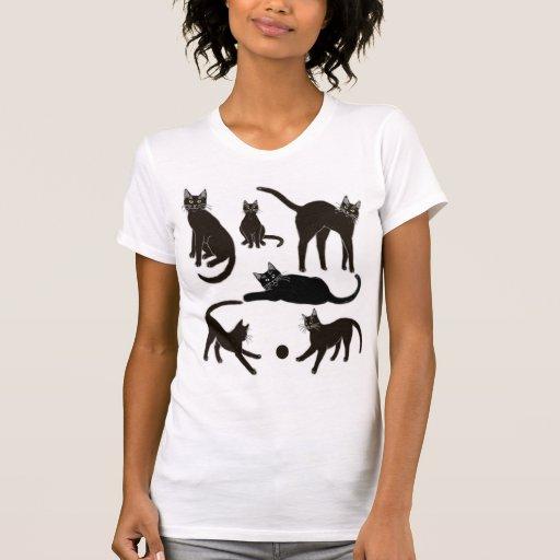 Camiseta menuda de las señoras afortunadas de los
