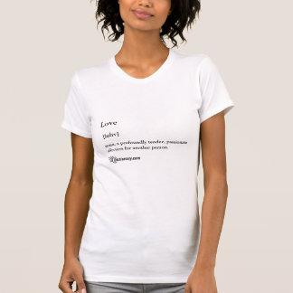 Camiseta menuda de las señoras con la definición