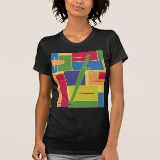 Camiseta menuda de las señoras de Colorblocks del