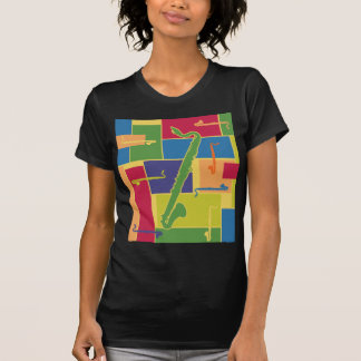 Camiseta menuda de las señoras de Colorblocks Poleras