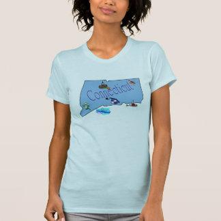 Camiseta menuda de las señoras de Connecticut Playera