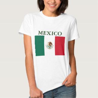 Camiseta menuda de las señoras de la bandera de polera