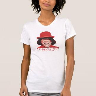 Camiseta menuda de las señoras malvadas del payaso playeras