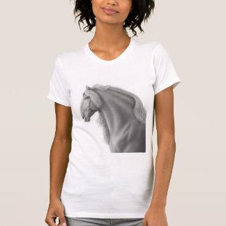 Camiseta menuda del caballo frisio
