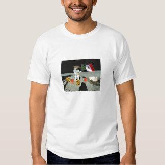 Camiseta mexicana de la luna playera